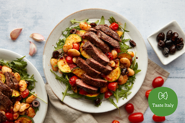 impress your friends and family with a warm steak salad using one of our italian recipes